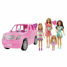 Barbie Limo with 4 Dolls & Accessories + Bonus Barbie Fashions  Accessories