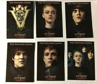 "Twilight Saga Eclipse Trading Card  ""The Volturi Coven""  6 card  VO-7 -VO12 MNM"