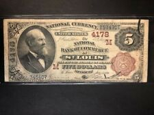 1882 BB $5 National Currency, National Bank of Commerce, St. Louis, MO, FR.474