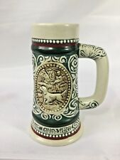 "AVON 5"" Beer Stein Mug Collectable HANDCRAFTED 1983 BRAZIL Trout & EnglishSetter"