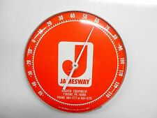"""JAMESWAY HOOVER EQUIPMENT Round Thermometer 12""""  TYRONE, PA"""