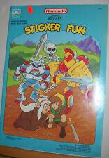 Vintage 1989 Golden Nintendo Legend of Zelda Sticker Fun Coloring Book