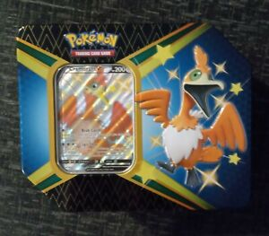 Pokémon Shining Fates Opened Cramorant V Tin with Cramorant V and Online Code