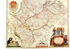TIRAGE 20ème d' APRES CARTE BLAEU DU 17ème siècle  GOUVERNEMENT ILE DE FRANCE