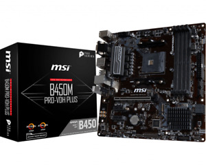 MSI B450M PRO-VDH PLUS AMD Motherboard