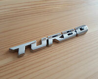 Silver Chrome 3D Metal TURBO Badge Sticker for Vauxhall Astra Corsa Insignia VXR