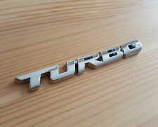 Silver Chrome 3D Metal TURBO Badge Sticker for Hyundai Coupe Sante Fe Getz Amica