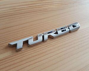 Argent Chrome 3D Métal Turbo Badge Autocollant Pour Fiat 500X 500 500C 500L
