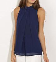 Womens Ladies Summer Vest Top Sleeveless Blouse Casual Tank Tops T-Shirt Shirt
