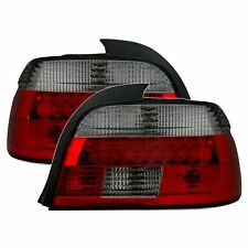 2 FEUX ARRIERE LED BMW SERIE 5 E39 BERLINE 9/2000 A 6/2003 NOIR ROUGE CRISTAL M