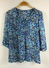 Postie Fashions Womens Paisley Blouse Size 12 Made in Australia Tunic Style
