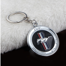 3c7223114908 Metal Silver Logo Emblem Key Ring Keychain Chrome For Ford Mustang