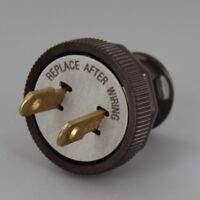 ANTIQUE REPRODUCTION ~ Vintage Electric Lamp Cord Plug  { Brown } ~  #GB122