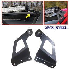 2Psc Off-road Roof LED Light Strip Bracket Car Upper Bar Mounting Bracket Steel