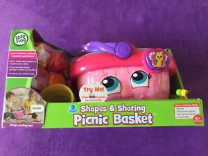 LEAP FROG SHAPES & SHARING PICNIC BASKET AGE SUITABILITY 6 MONTHS +