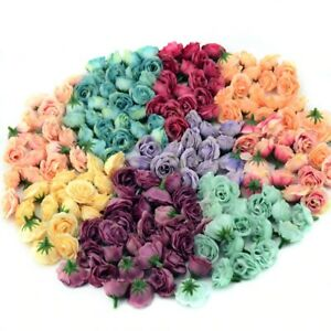 10 PCs Mini Silk Artificial Rose Flowers Heads For Wedding Party Home Decoration