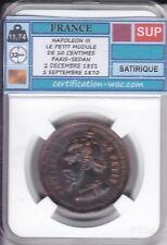 NAPOLEON III LE PETIT MODULE DE 10 CENTIMES PARIS-SEDAN SATIRIQUE