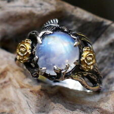 Vintage Antique Style Sterling Silver Hand Made Cat Eye Stone Wedding Ring R172