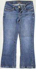 GUESS Crystal Embellished Pockets Bootcut Cropped Jeans Size 27 Actual 28x26