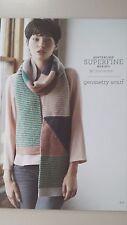Cleckheaton Pattern #410 Geometry Scarf using Superfine Merino Wool