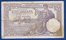 Yugoslavia banknotes, 100 Dinara 1929, Germany Occupation - WAFFEN Totenkopf SS