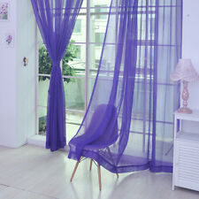 Tulle Voile Door Window Curtain Drape Panel Colorful Sheer Scarf Divider 2*1m