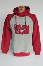 ONITSUKA TIGER HOODIE Kapuzenpullover Sweat Shirt Größe XL grau rot
