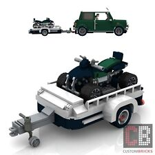 BAUANLEITUNG Eigenbau ATV Tuning Quad Anhänger für LEGO® Steine MOC Mini 10242