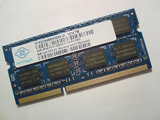 4GB DDR3-1600 PC3-12800 NANYA NT4GC64B8HG0NS-DI 1600 1333Mhz LAPTOP RAM MEMORY