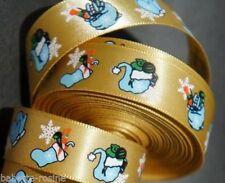 RUBAN SATIN ** 16 mm ** NOËL Gants chaussette de noël  cadeaux - vendu au mètre