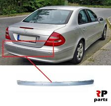 FOR MB E W211 02-06 REAR BUMPER MOLDING TRIM WITH CHROME CENTER WITH PDC HOLE