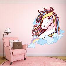 Giant Unicorn wall sticker wall mural 4 sizes (10005) Girls Bedroom Rainbow