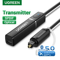 Ugreen Bluetooth5.0 Transmitter Audio Adapter aptX Digital Optical Toslink Fr TV