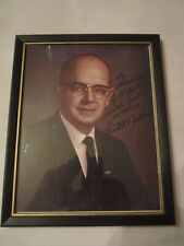 "VTG GEORGIA GOVERNOR LESTER MADDOX PHOTOGRAPH/SIGNED -8 1/2"" X 11"" FRAMED"