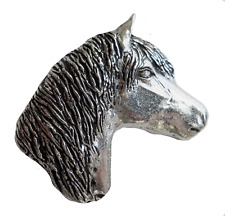 Exmoor Pony Pewter Pin Badge - Hand Made in Cornwall