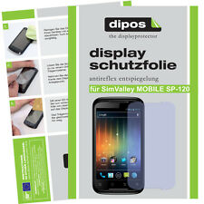 2x SimValley Mobile SP-120 Displayschutz Folie Antireflex Passgenau unsichtbar