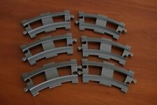 Lego Duplo Eisenbahn Train Set 2735-2 Curved Rails 6x Bluish ( New ) Gray Color