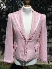 Ladies Pink Jacket with trim fully lined size 14
