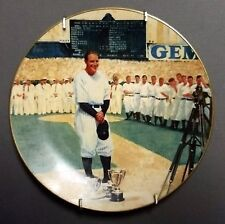 Lou Gehrig: The Luckiest Man Delphi Collectors Plate Baseball