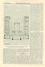 1911 Cardiff Technical Institute, First Premiated Design, Plans