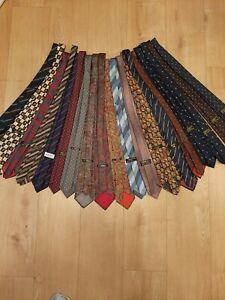 St. Michaels Vintage Silk/Polyester/Wool  Ties Bundle x 19