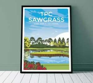 TPC Sawgrass 17th Hole Golf Club Print Travel Poster Decor Style No Frame