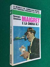 SIMENON - MAIGRET E LA CHIUSA N.1 , Le Inchieste n.62 Mondadori (1968) Pinter