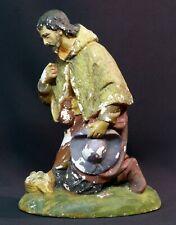 D3 18èm rare sculpture statue personnage religieux 25cm1,3kg jésus Dieu pains