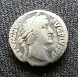 ANTONINUS PIUS AR DENARIUS - GENUINE ROMAN SILVER COIN 138-161 AD