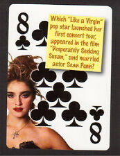 Madonna Like a Virgin Desperately Seeking Susan Neat Playing Card #5Y8