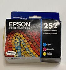 Epson 252 T252520-S DURABrite Ultra Ink Cartridge - TriColor New 09/2022