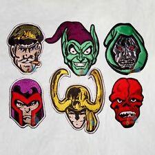 Set Super Heroes Villains Embroidered Patches Marvel Comics Dr Doom Loki Magneto