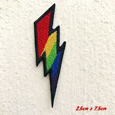 Lightning Bold symbol colourful Iron Sew on Embroidered Patch applique UK Seller