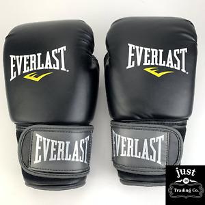 Everlast MMA PRO STYLE  MUAY THAI GLOVES 12oz BLACK -BRAND NEW open box